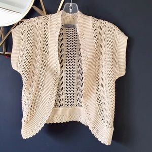 Sweaters - Boho Crocheted Shrug